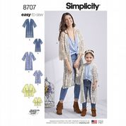 8707 Simplicity Pattern: Child's and Misses' Kimonos